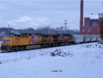 UP 6029 & 5867 lead the 3rd EOG sand train east in Eau Claire